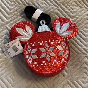 New Disney Parks Holiday Crossbody Ornament Purse